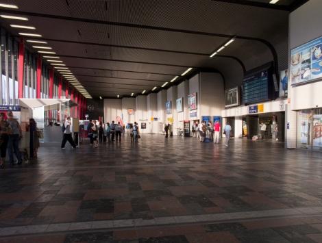 Der Braunschweig Hauptbahnhof während der Rushour
