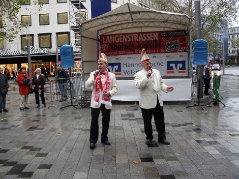 Eine traurige Nummer – Karnevalsauftakt in Hannover.