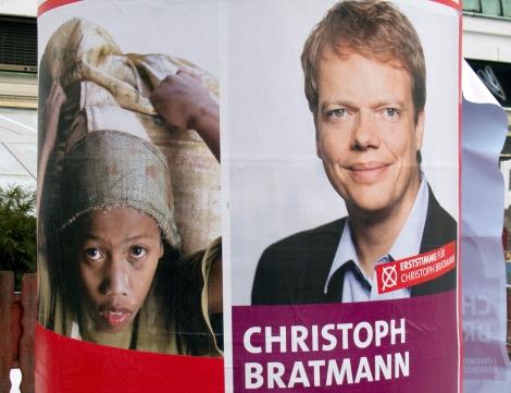 Zufällig Koalition alter und neuer Plakate