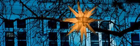 Weihnachtlicher Sternenglanz über dem Kohlmarkt.